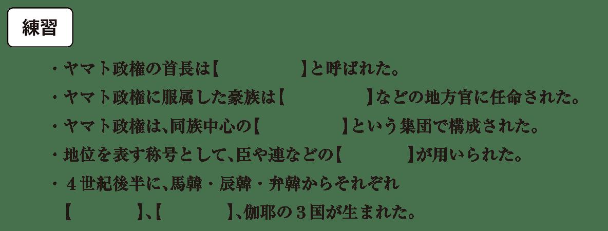 ヤマト政権1 練習 空欄