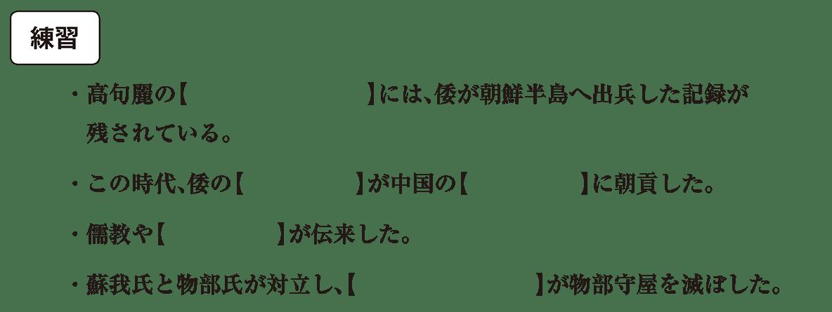ヤマト政権2 練習 空欄