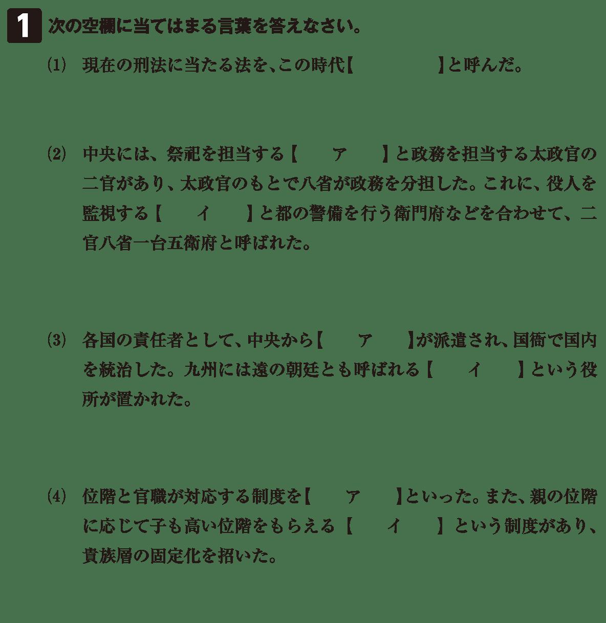 律令制度3 問題1 問題
