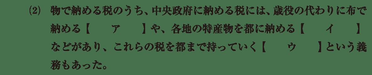 律令制度6 問題1(2) 問題
