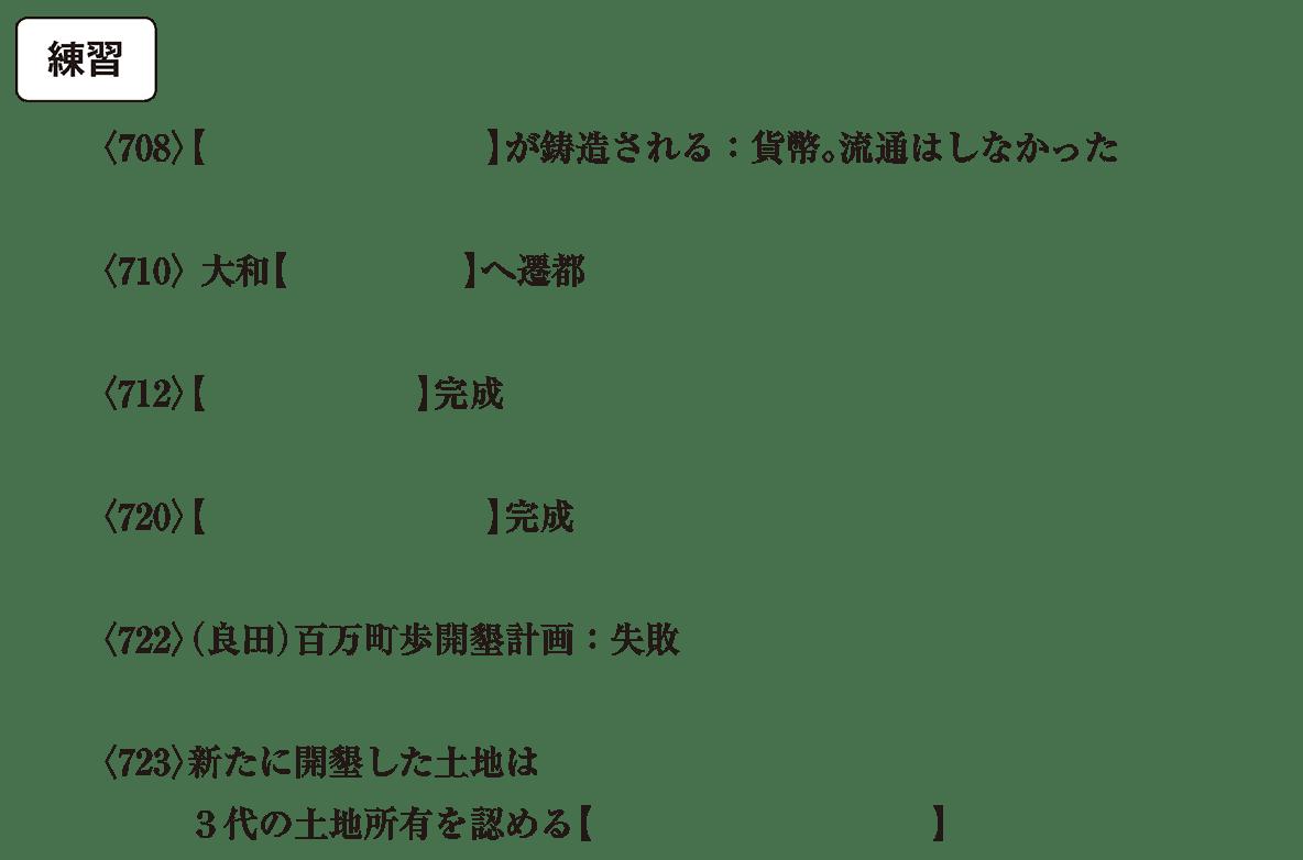 奈良時代1 練習 問題