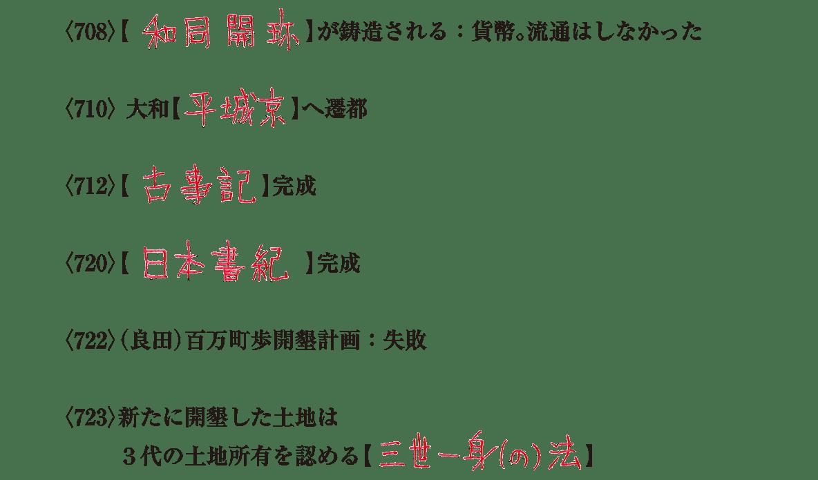 奈良時代1 練習 答え