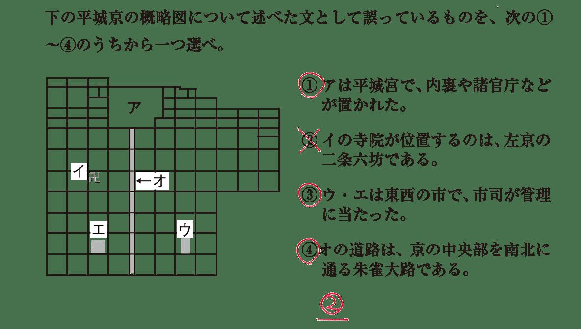 奈良時代3 問題3 答え入り