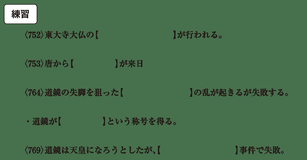 奈良時代4 練習 問題