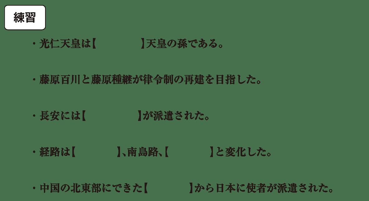 奈良時代5 練習 問題