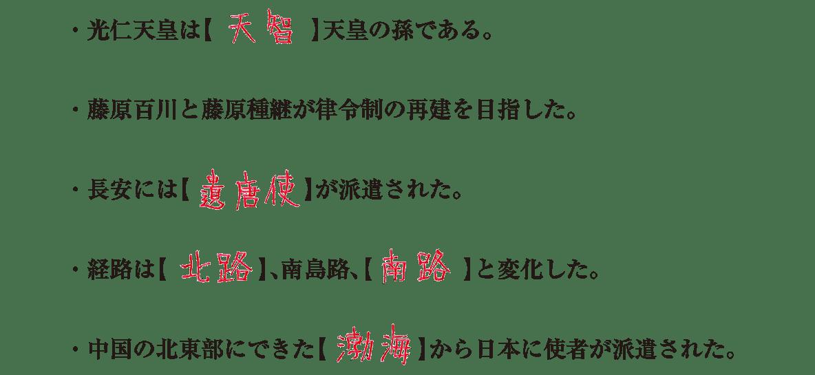 奈良時代5 練習 答え入り