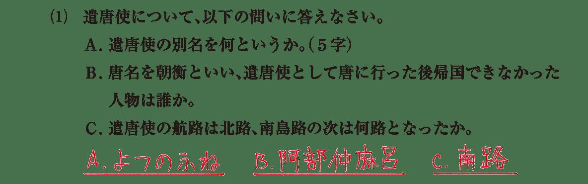奈良時代6 問題2(1) 答え入り