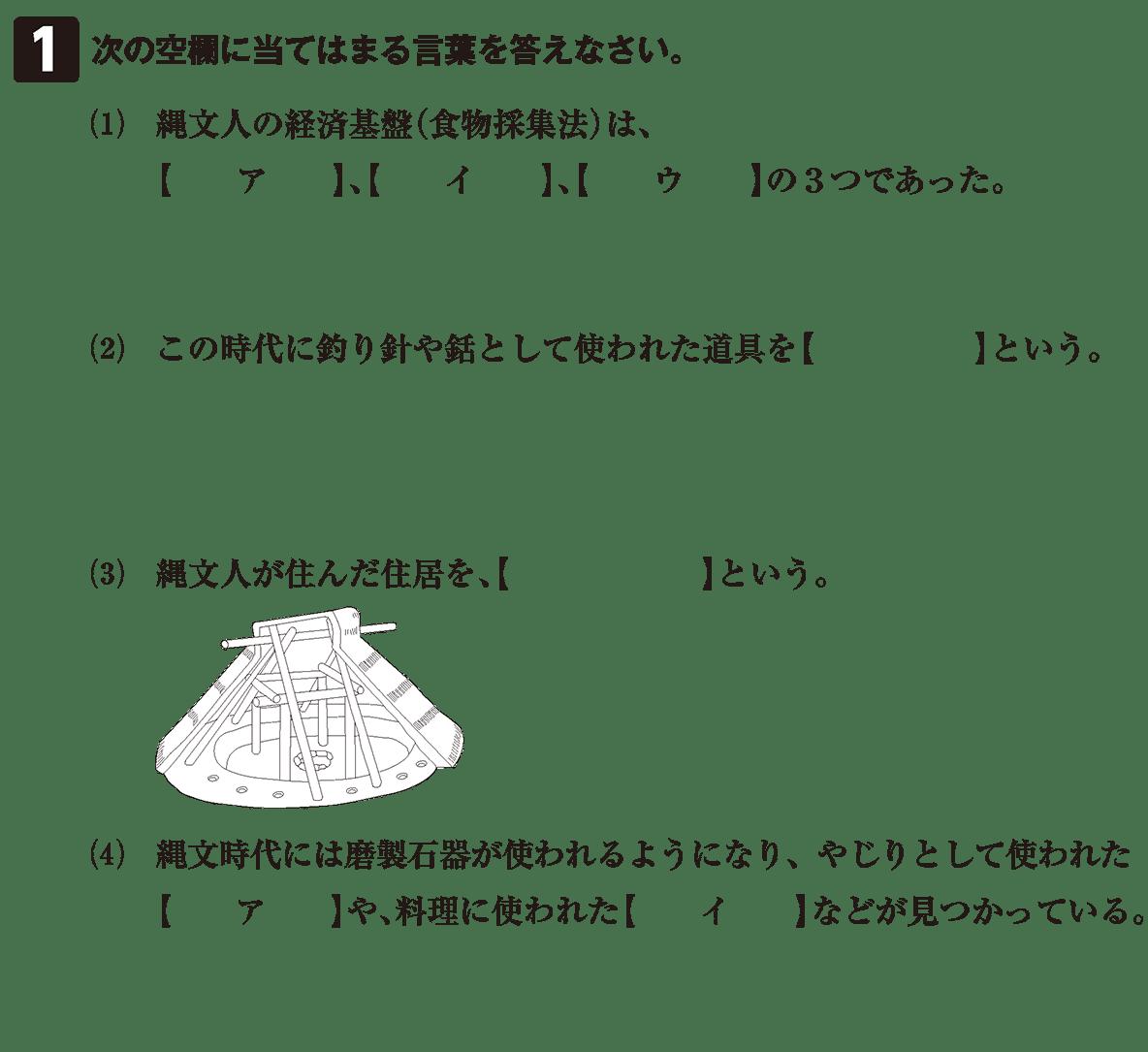 縄文時代3 問題1 カッコ空欄