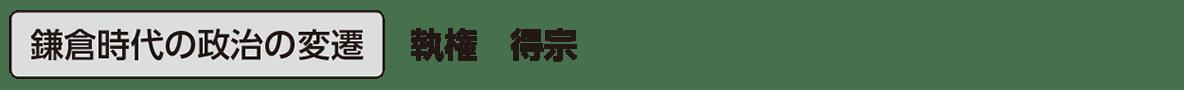 中世13 単語1 鎌倉時代の政治の変遷