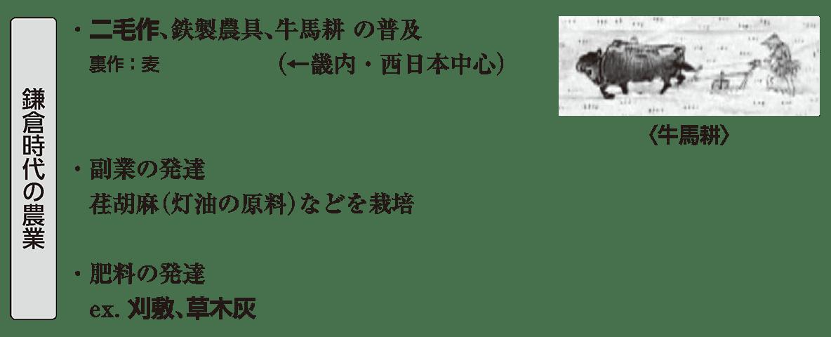 中世20 ポイント1 鎌倉時代の農業