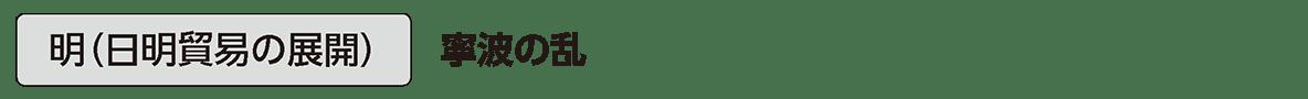 中世31 単語2 明(日明貿易の展開)