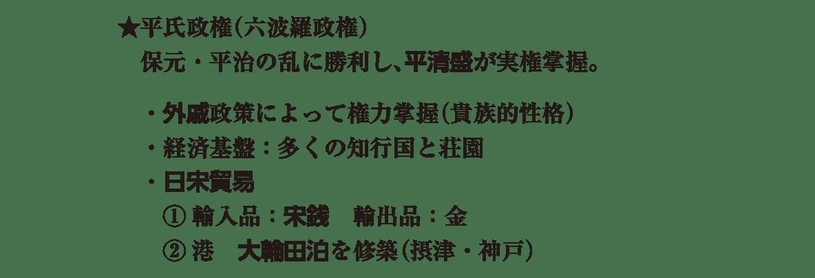 中世7 ポイント1 ★平氏政権の部分