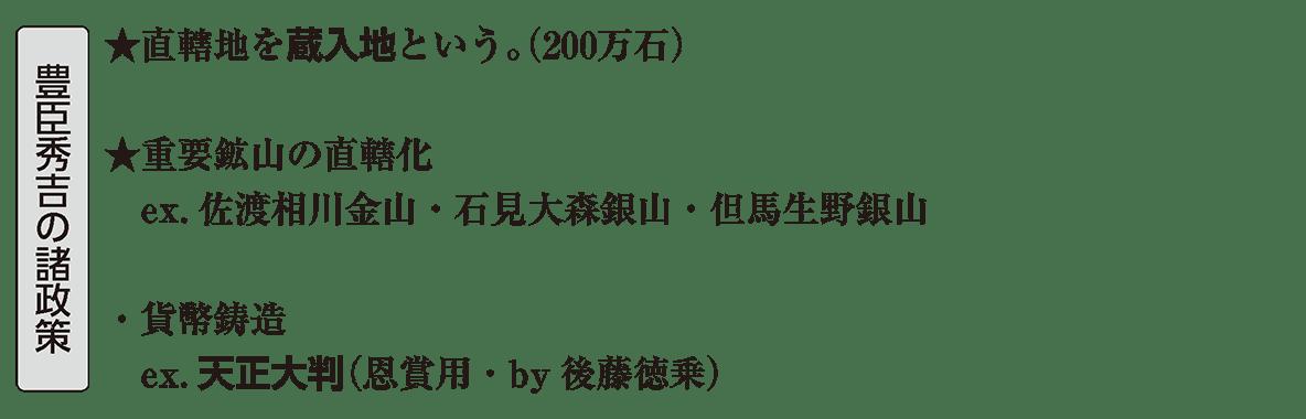 近世11 ポイント1 豊臣秀吉の諸政策