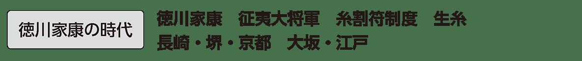 近世13 単語2 徳川家康の時代