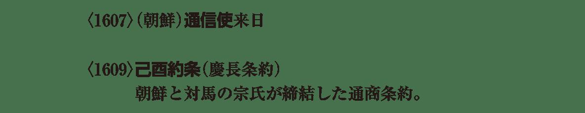 近世14 ポイント1 通信使と己酉約条の3行(以下、アイコン不要)
