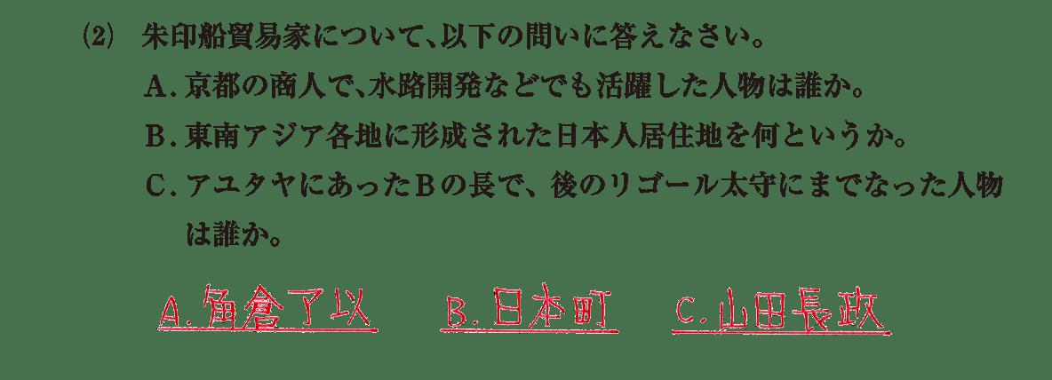 近世21 問題2(2) 解答