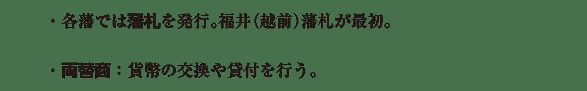 近世32 ポイント1 藩札・両替商の2行