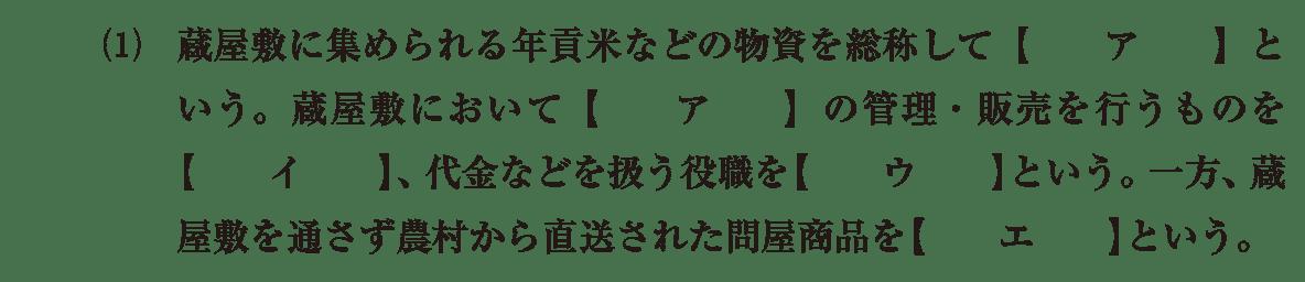 近世33 問題1(1) カッコ空欄