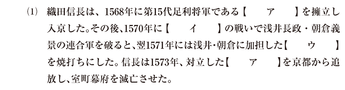 近世6 問題1(1) 問題