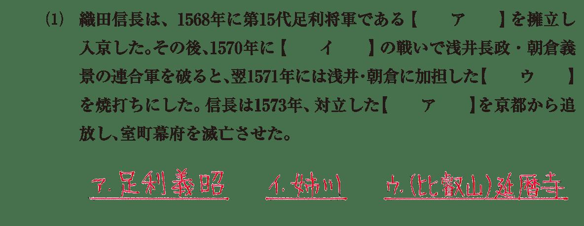 近世6 問題1(1) 解答