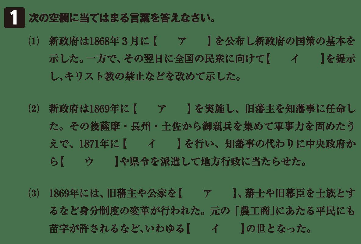 近代12 問題1 カッコ空欄
