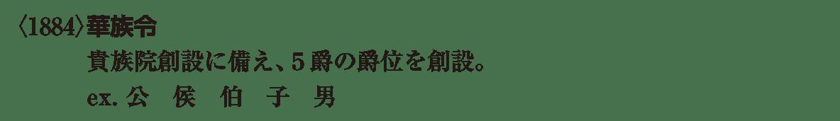 近代22 ポイント2 <1884>華族令 の段落