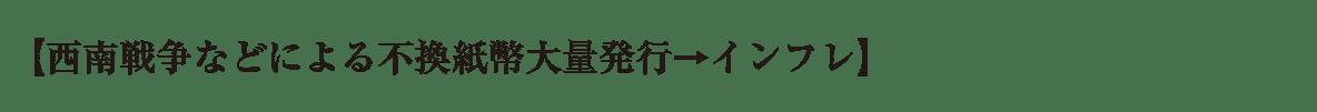 近代26 ポイント1 【西南戦争などによる~ の1行