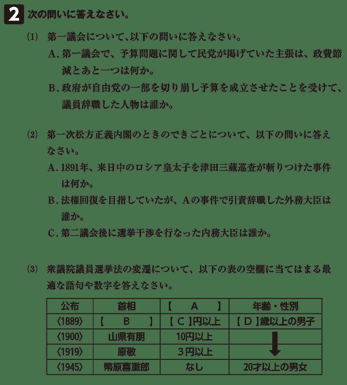 近代33 問題2 カッコ空欄