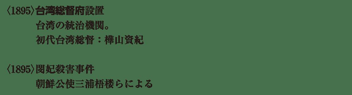 近代35 ポイント1 <1895>台湾 から らによる まで