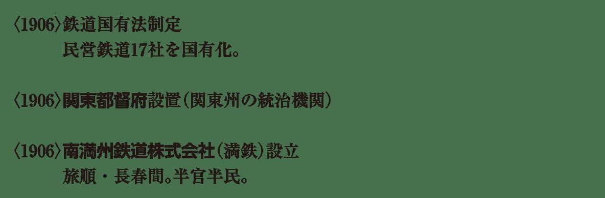 近代46 ポイント1 <1906>関東都督府 から 半官半民。 まで