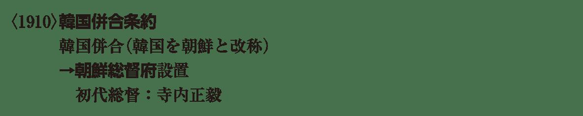 近代47 ポイント1 <1910>韓国併合条約 から 寺内正毅 まで