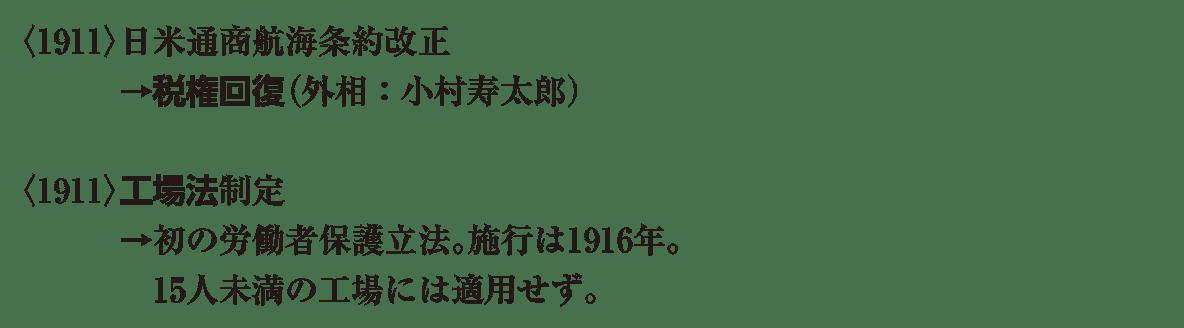 近代47 ポイント1 <1911>日米通商 から最後まで