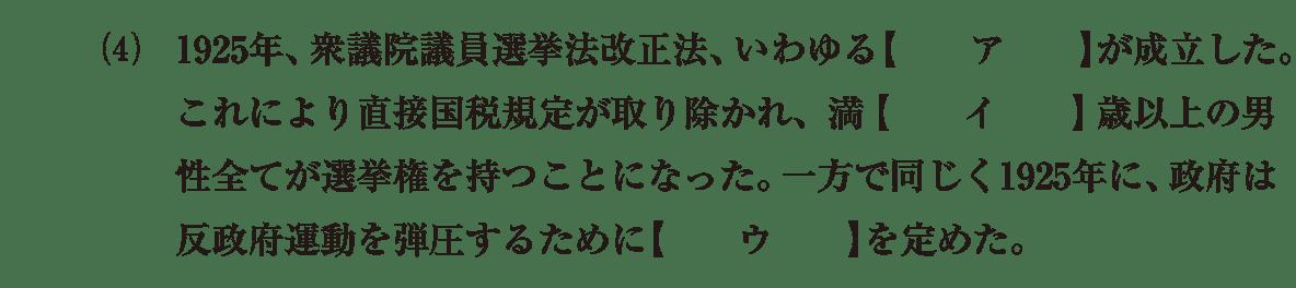 近代57 問題1(4) カッコ空欄