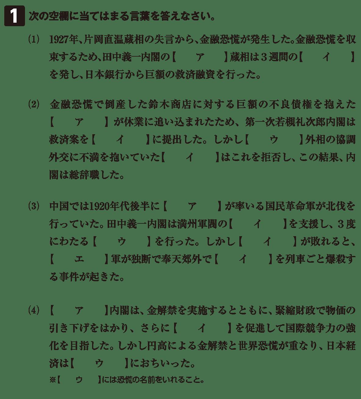 近代63 問題1 カッコ空欄