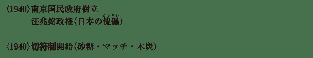 近代68 ポイント3 <1940>南京国民政府 から 最後まで