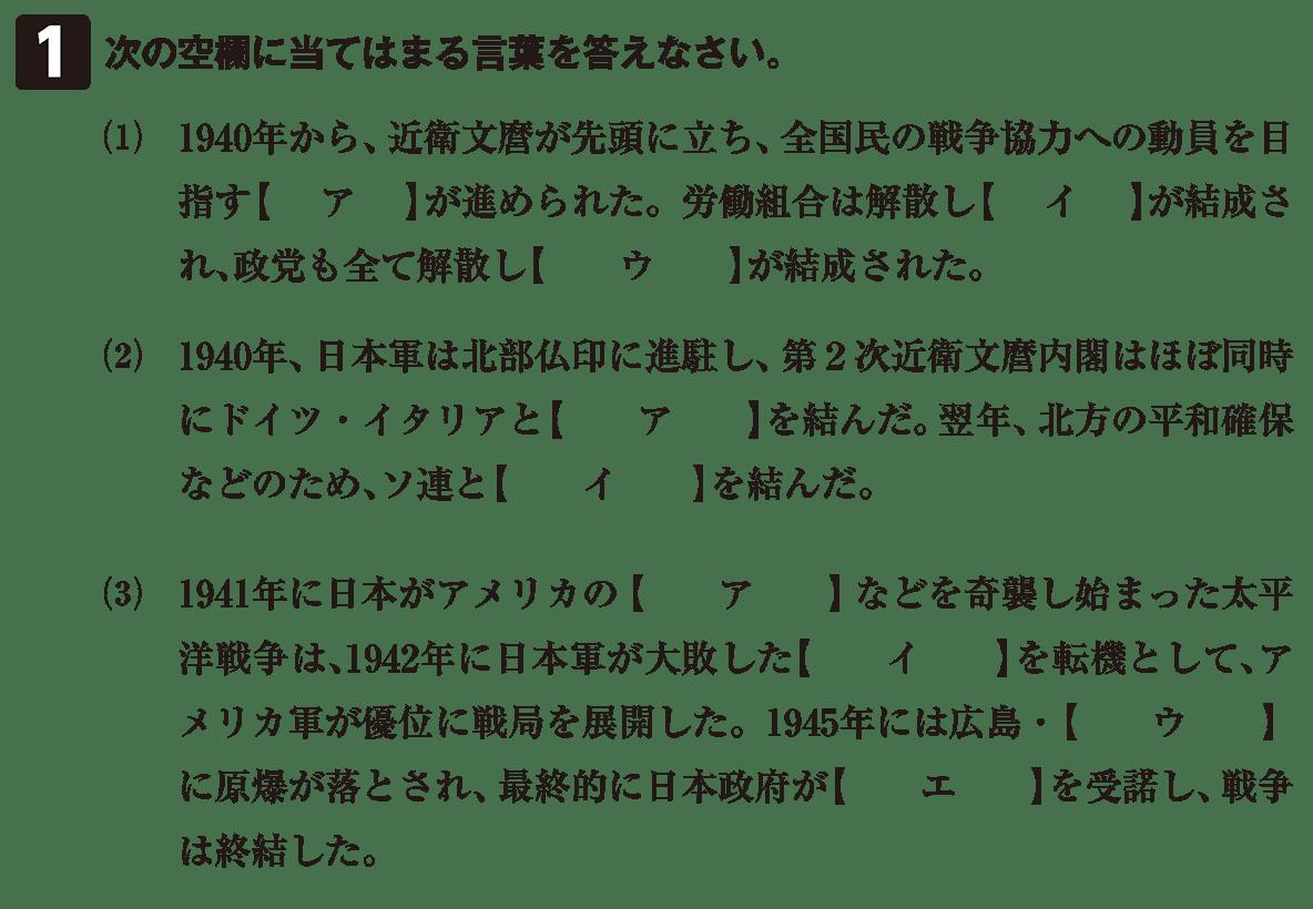 近代72 問題1 カッコ空欄