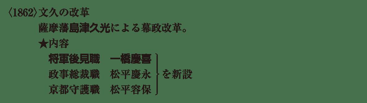 近代07 ポイント1 <1862>文久の改革~ 松平容保 まで