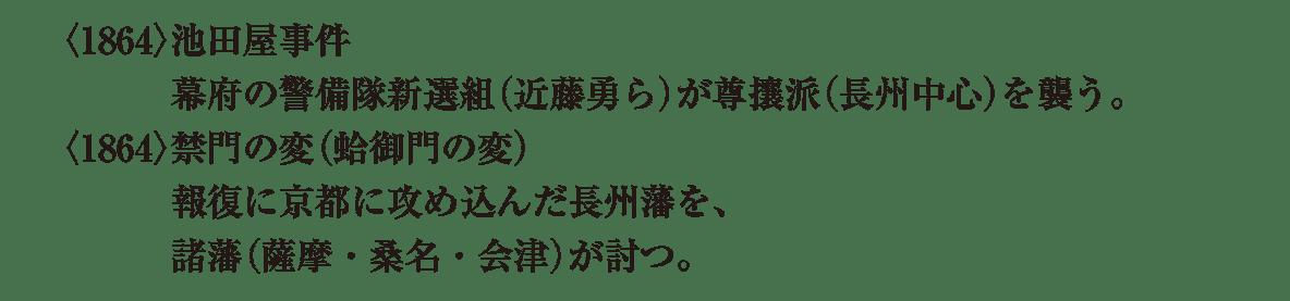 近代07 ポイント2 <1864>池田屋事件~ 左ページおわり まで