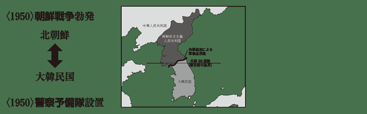 現代07 ポイント2 <1950>朝鮮戦争 から 最後 まで (地図も込み)