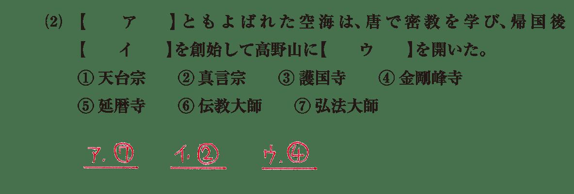 原始・古代文化15 問題1(2) 解答