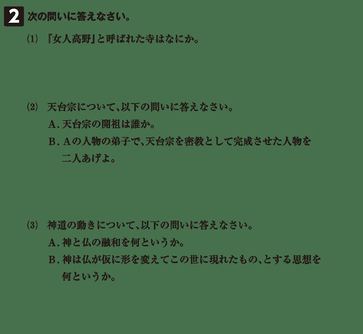 原始・古代文化15 問題2 問題
