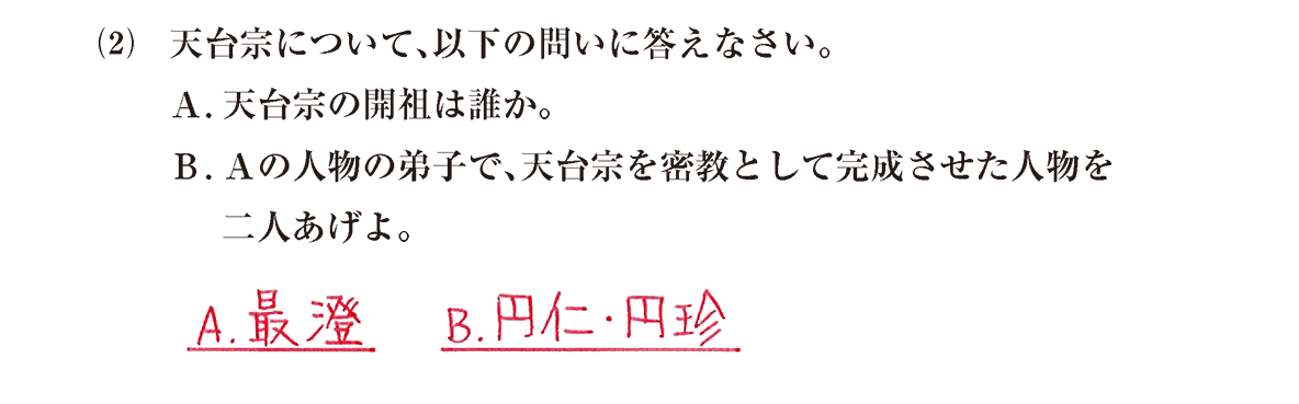 原始・古代文化15 問題2(2) 解答