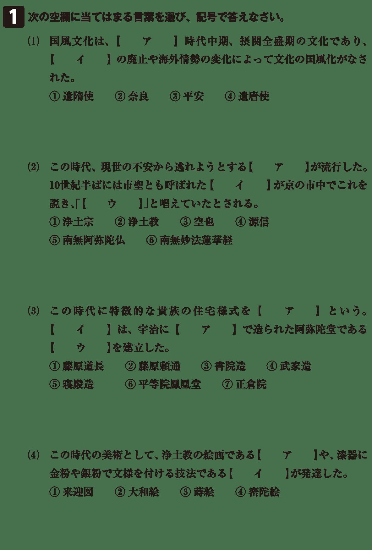 原始・古代文化21 問題1 問題