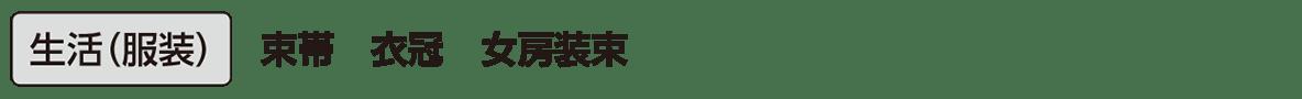 原始・古代文化23 単語1 生活(服装)