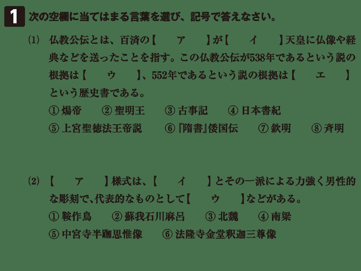 原始・古代文化3 問題1 問題