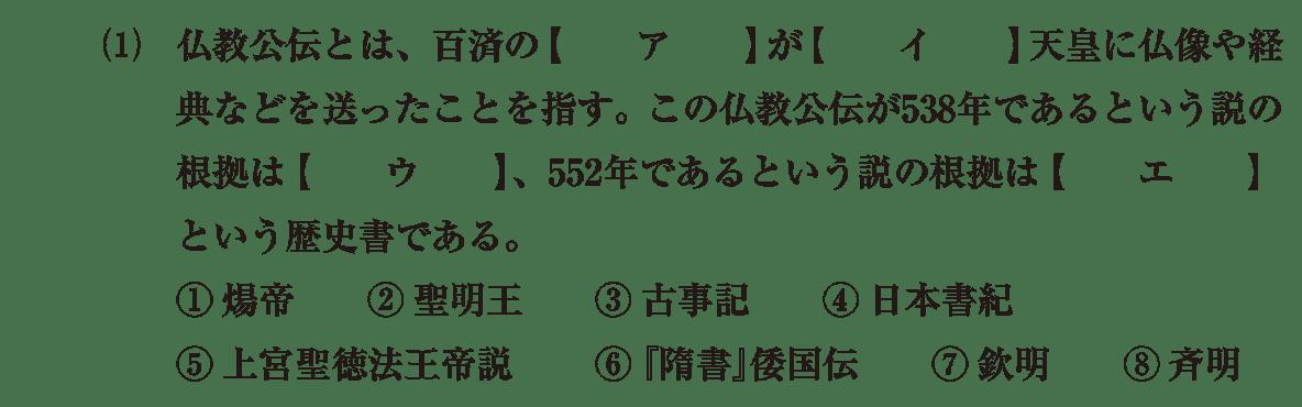原始・古代文化3 問題1(1) 問題