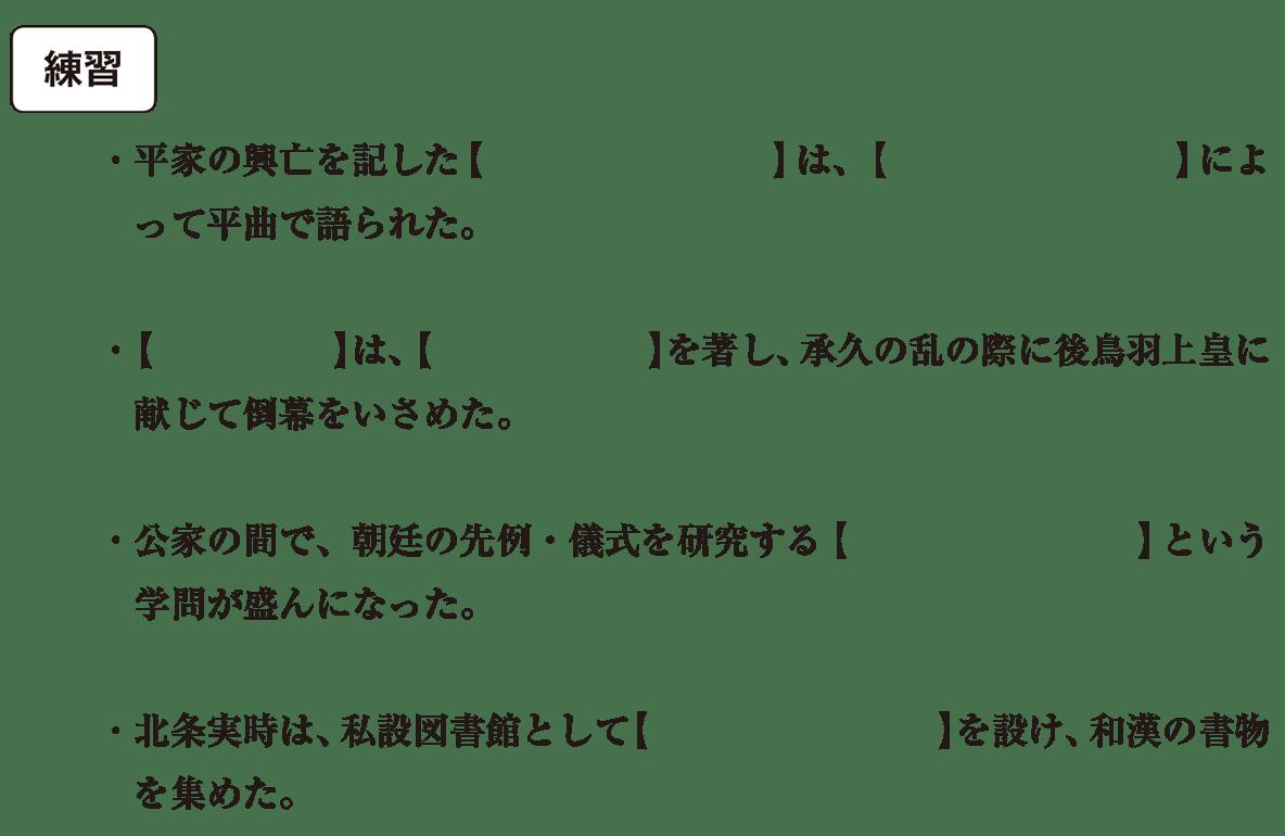 中世の文化11 練習 空欄