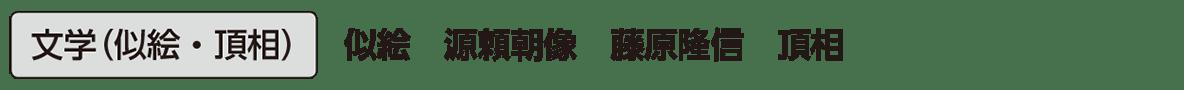 中世の文化13 単語2 文学(似絵・頂相)