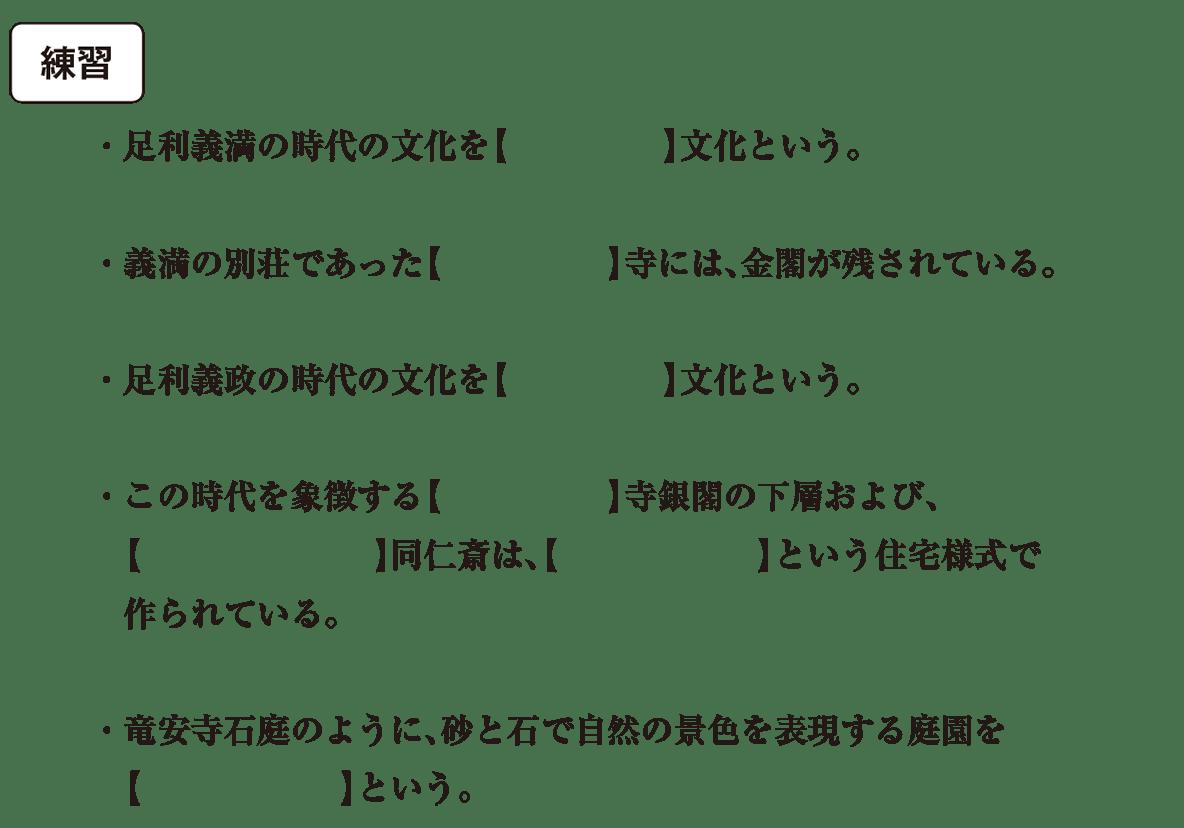 中世の文化19 練習 空欄