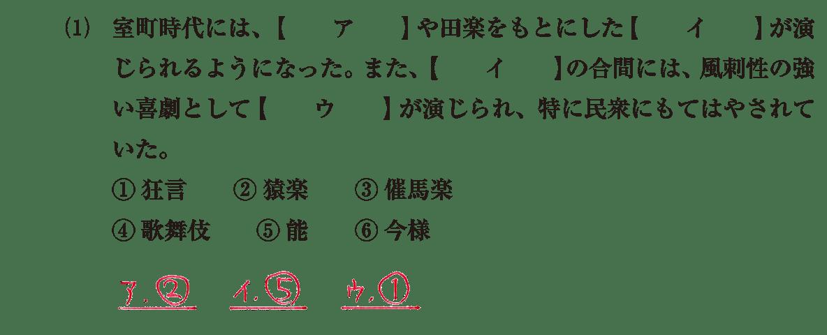 中世の文化27 問題1(1) 解答